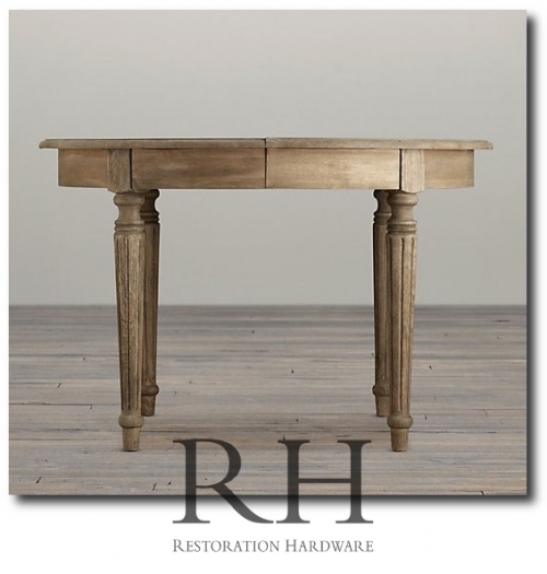 Breathtaking Weathered Dining Tables You Can Buy Online : Restoration Hardware Fluted Dining Table 500x525 from theswedishfurniture.com size 500 x 525 png 233kB